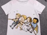 批发2015夏装新款男童装儿童纯棉卡通图案短袖t恤宝宝半袖衫