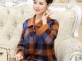 中年秋装外套中老年女装秋冬装加厚羊毛外套时尚妈妈装中年女