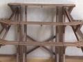 工字花架实木白色 户外梯形简易花架 韩式田园创意花