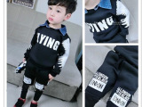 贝佳童装2015秋装新款 男童韩版长袖T恤+休闲裤两件套装一件代