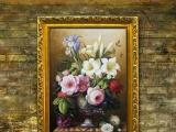 林美艺术古典欧式花卉手绘油画 高品质出口室内油画装饰 0005