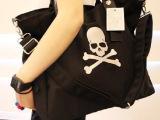 猫猫包袋2014新款时尚休闲帆布包骷髅头女包单肩包手提包