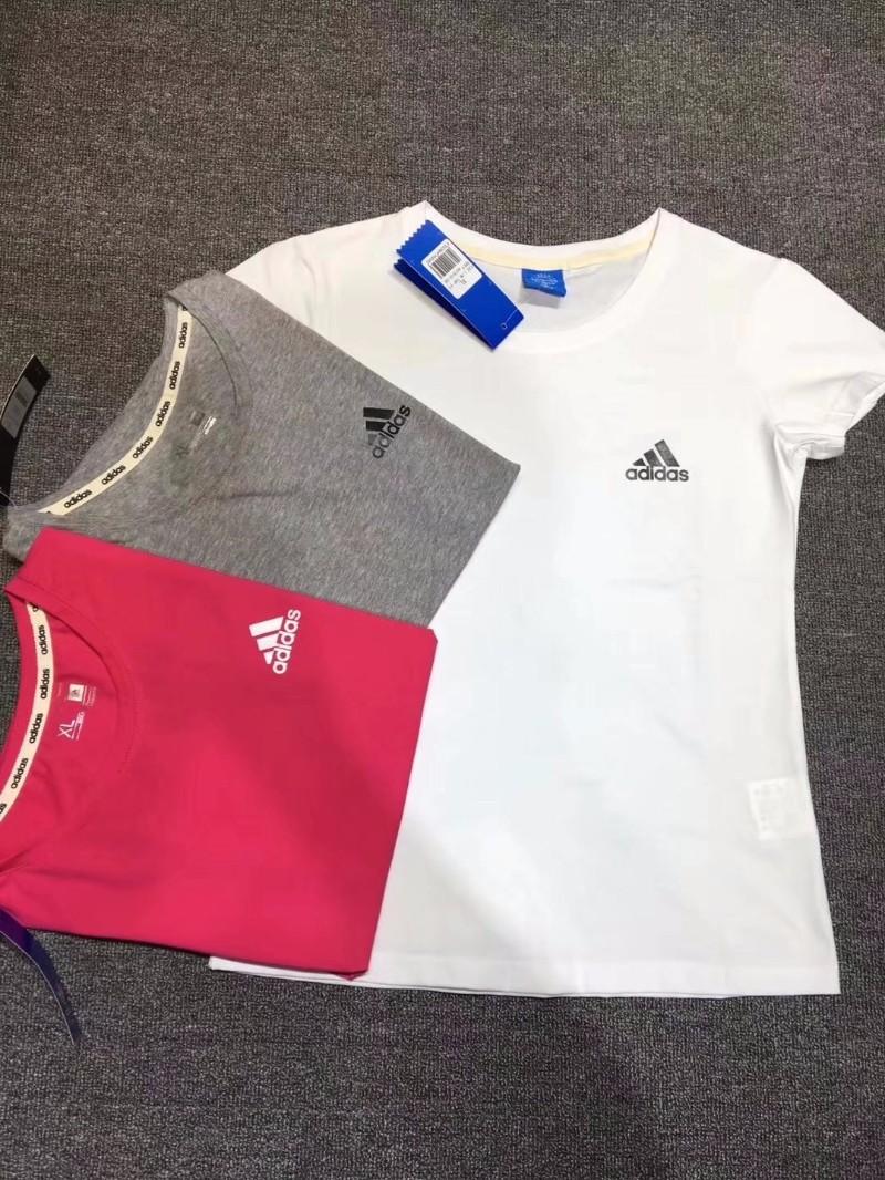 阿迪达斯NEO女装夏新款休闲运动透气圆领短袖T恤