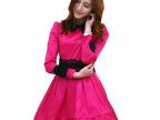 2014春季女装新款 韩版春装品牌长袖绣花连衣裙厂家批发 LYQ6883