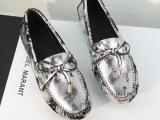 一件代发 路易家2013秋季新款真皮豆豆鞋 奢华大牌蝴蝶结平跟女
