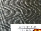 厂家热销 环保PVC无底革 柳条纹阻燃人造皮革