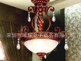客厅灯饰 简约奢华欧式吊灯 树脂灯餐厅灯