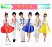 六一儿童演出服中小学生合唱服装长袖学生表演服女童多色长裙