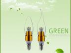 厂家直销 节能省电LED蜡烛灯 E14螺口拉尾尖泡灯