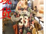 秋冬新款韩国复古甜美晕染花朵中长款套头卫衣 大码女