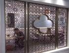 佛山盟旺专业定制不锈钢屏风 铝 雕屏风 不锈钢线条酒柜酒架