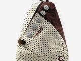 2015新款韩版淑女新款波斯顿圆点双肩背包帆布包书包圆点手提包