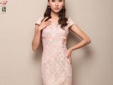 思思心语女装蕾丝绣花时尚改良旗袍裙夏装中式短款日常礼服裙子