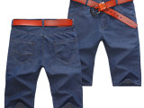 2015夏季新款男式牛仔裤中裤薄料五分裤水洗五分裤牛仔裤#709