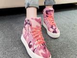 2014新款韩国版迷彩帆布鞋内增高女运动鞋子平底高帮休闲鞋英伦潮