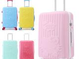一件代发 卡通凯蒂猫拉杆箱万向轮磨砂面旅行箱24寸浮雕kt行李箱