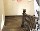 实木别墅楼梯踏板 上海定制楼梯工厂 实木楼梯铁艺围栏案例