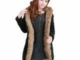 2013冬装新款加厚时尚修身保暖大衣风衣收腰女式外套原单批发女装