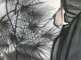 名人书画作品,白伯骅手绘作品,图中人物细腻传真,刻