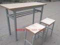 全新加固加厚双层双人位培训桌学习桌带凳子100一套可安装送货