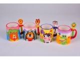 正品韩版 卡通动物立体 创意 陶瓷杯水杯生日礼物