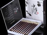 批发高档红檀木中式筷 婚礼结婚礼品红木筷子工艺筷子套装餐具