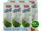 泰国进口 UFC纯椰子水100%纯天然椰汁1L*12瓶 果蔬饮料