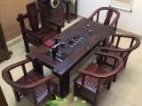 老船木户外阳台茶几古沉船木茶台实木功夫茶艺桌组合
