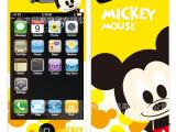 批发 苹果4/4S通用高清潮牌彩色贴膜 iphone4S手机闪钻