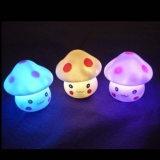 蘑菇表情七彩小夜灯批发 蘑菇小人灯 led灯 自产自销地摊货源热卖