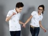 夏季新款男女式纯色短袖t恤 情侣装polo衫 男士潮品牌t恤短袖
