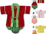 童装 2015夏款男女宝宝衣服日式哈衣2件套 婴幼儿纯棉连身衣
