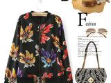 M1869 欧美女装秋冬新款时尚大牌印花长袖夹克外套批发
