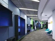 福田南山高科技公司展厅装修,互联网软件公司办公室装修设计
