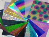 彩虹金刻字膜 彩虹銀刻字膜 彩虹光柱刻字膜