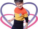 秋冬韩版圆领童装 创意新款童针织衫 外贸男童装针织衫 品牌童装