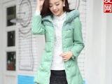 2013冬装新款燕尾pu皮棉衣韩版修身棉衣袄女外套大衣批发代理