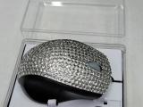 供应高档 精美点钻镶钻鼠标 实用光电鼠标