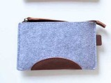 厂家供应各种款式新颖时尚简约毛毡钱包 电脑包 礼品包 卡包