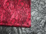 厂家直销 新款蕾丝布料烫金 蕾丝复合面料 法式面料 鞋材蕾丝面料