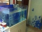 鱼缸 超白玻璃底滤三重溢流 水族箱