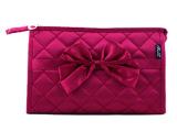高档品质长方形韩版可爱蝴蝶结车缝线大号大容量洗漱收纳化妆包