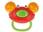 澳贝正品 手握小蟹摇铃单只装 婴幼儿牙胶玩具 惠州总代理