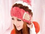 韩版 新款可爱秋冬天帽子女款韩国球球 冬帽毛线帽针织帽女 批发