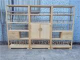 白蠟木新中式博古架實木書柜置物架多寶格白蠟木儲物柜禪意展示架