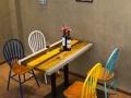 loft复古西餐厅餐桌椅套装 美式铁艺实木咖啡厅酒吧桌椅定做