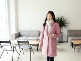 韩版热销秋冬中长款呢子大衣批发江苏最低价冬季女装棉服外套批发