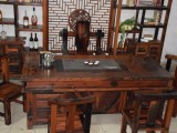 批发老船木茶台茶阳台创意茶桌客厅实木石盘茶艺茶道桌