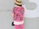 加盟代发2014夏装新品韩版女装时尚圆领印花卫衣套装两件套女88