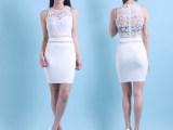 广州时尚女装2015秋季新品高端蕾丝修身缕空连衣裙